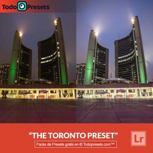 Preset de Lightroom gratis The Toronto