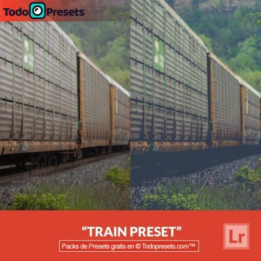 Tren Preset de Lightroom gratis