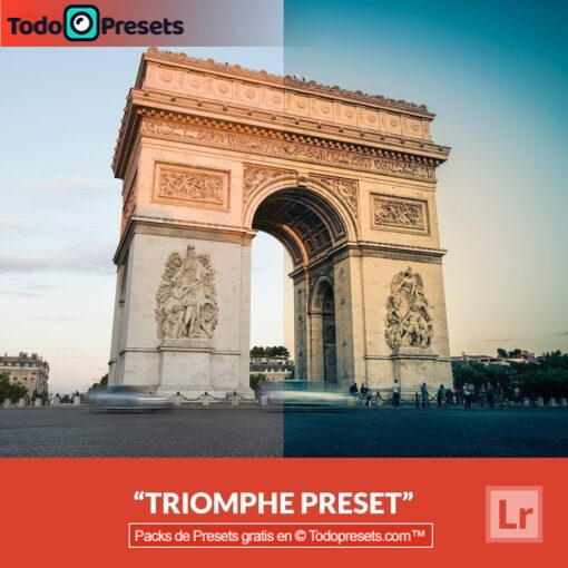 Triomphe Preset de Lightroom gratis