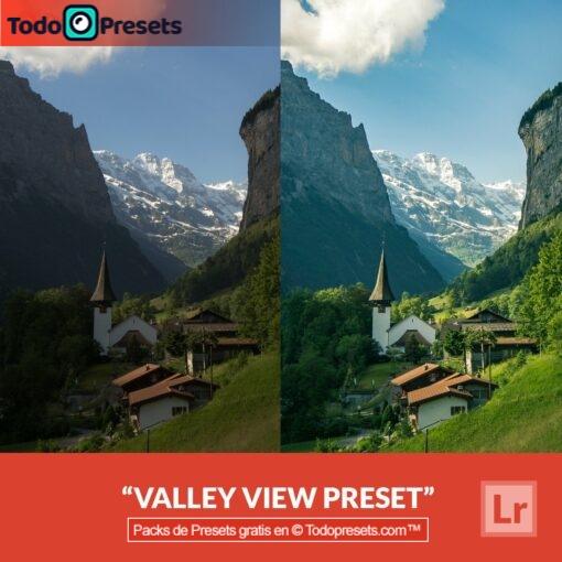 Vista de valle predeterminada de Lightroom gratis