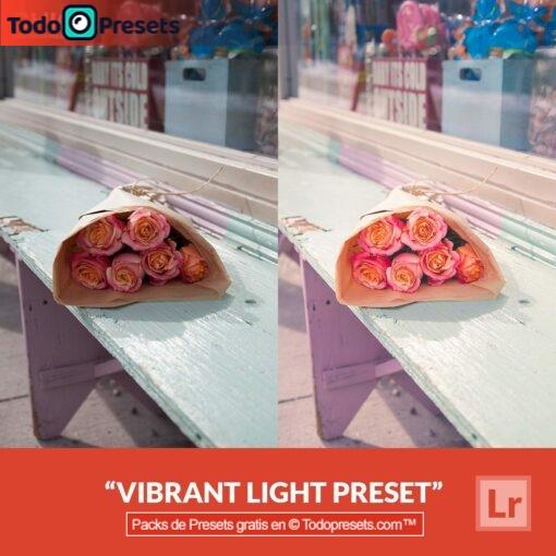 Luz vibrante Preset de Lightroom gratis