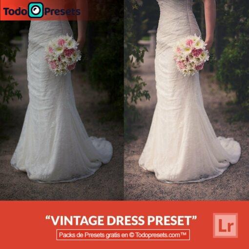 Vestido vintage Preset de Lightroom gratis