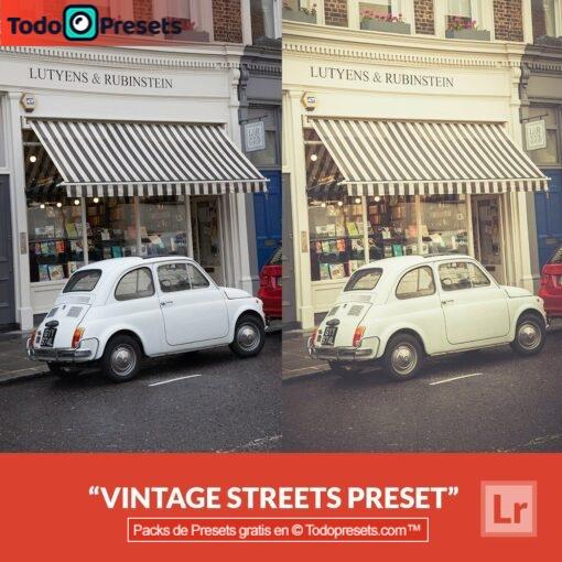 Calles Vintage Presets de Lightroom gratis
