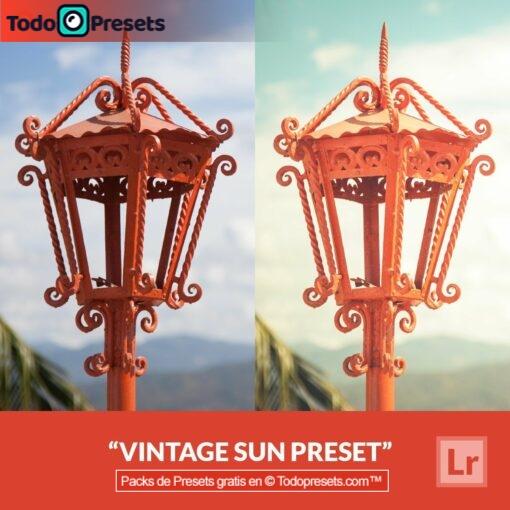 Lightroom Preset Vintage Sun gratis