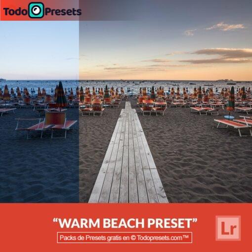 Playa cálida Preset de Lightroom gratis