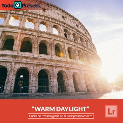 Luz diurna cálida Preset de Lightroom gratis