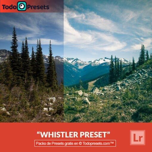 Whistler Preset de Lightroom gratis
