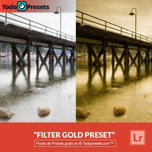 Filtro Preset de Lightroom gratis Gold