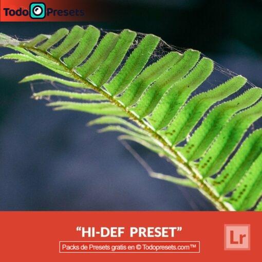Lightroom Preset Hi-Def