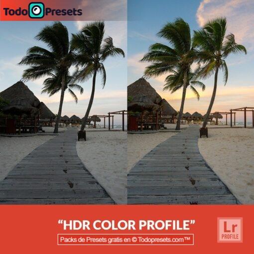 Perfiles de Lightroom gratis Color HDR