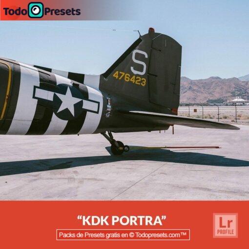 Perfil de Lightroom gratis KDK Portra