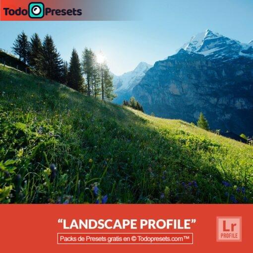Paisaje gratis de perfiles de Lightroom