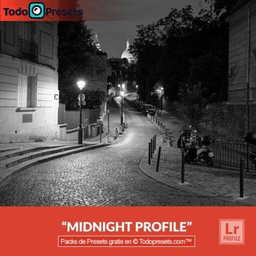 Perfiles de Lightroom gratis Midnight