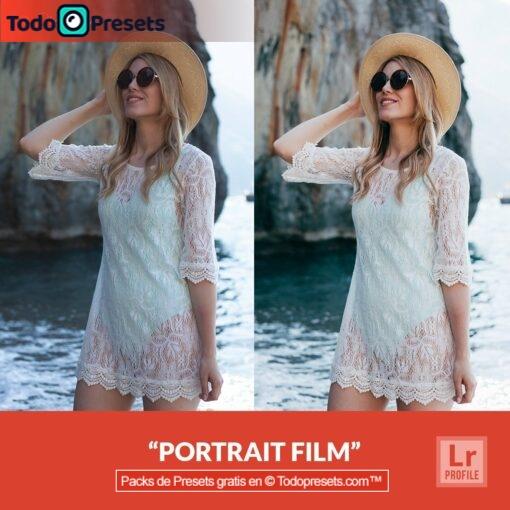Película de retrato de perfiles de Lightroom gratis