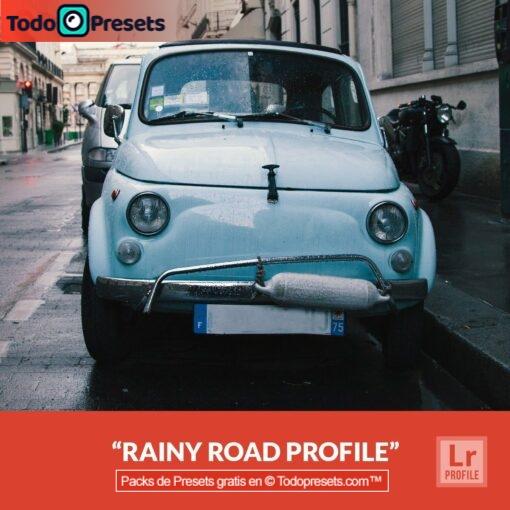 Perfiles de Lightroom gratis Rainy Road