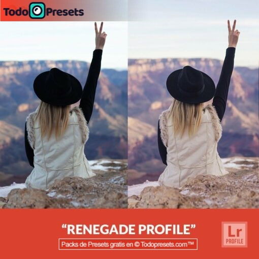 Perfiles de Lightroom gratis Renegade