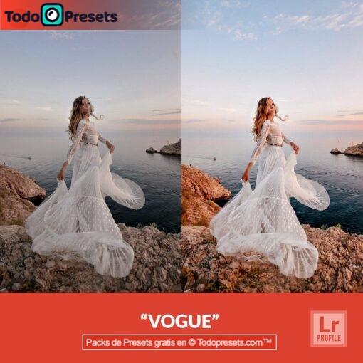 Perfil de Lightroom gratis Vogue