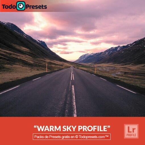 Perfiles de Lightroom gratis Warm Sky