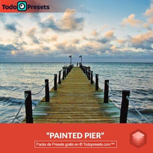 Muelle pintado con aspecto Luminar gratis