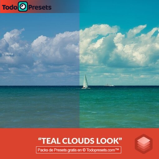 Nubes de color verde azulado con aspecto Luminar gratis