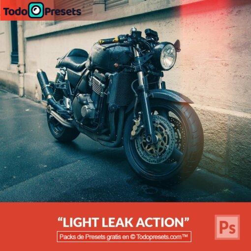 Preset gratis de Photoshop: fuga de luz