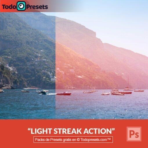 Racha de luz Preset de Photoshop gratis