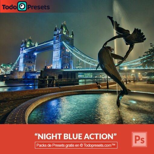 Preset de Photoshop Azul Noche