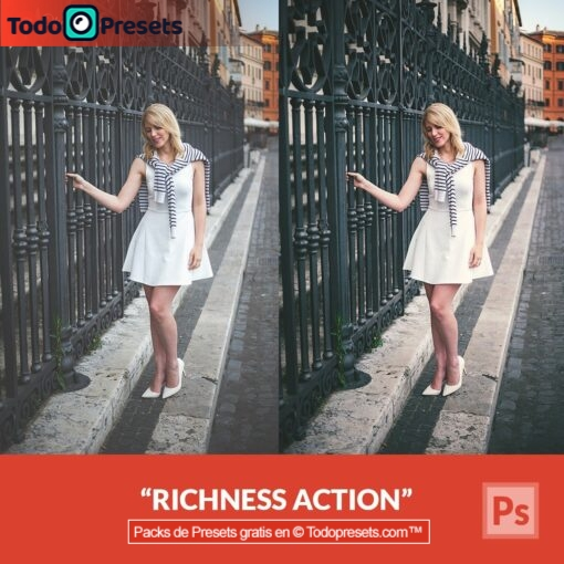 Riqueza de acciones de Photoshop gratis