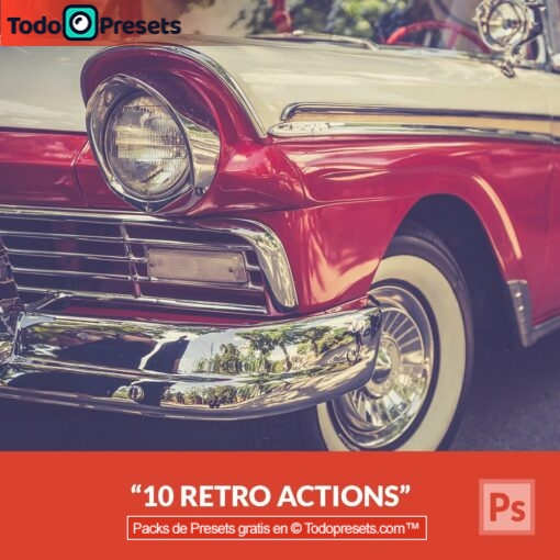 10 acciones retro gratis de Photoshop