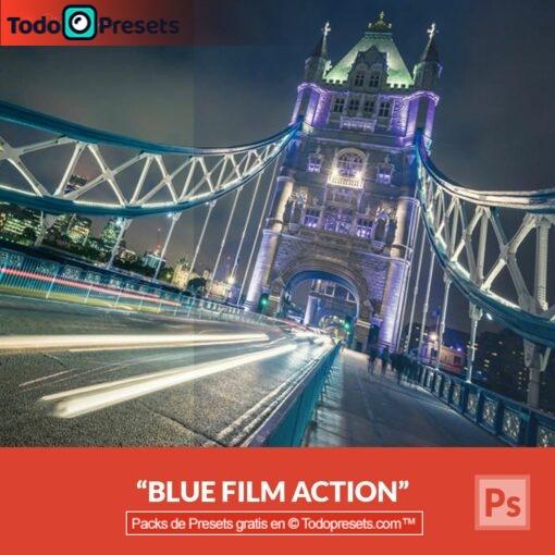 Película azul Preset de Photoshop gratis