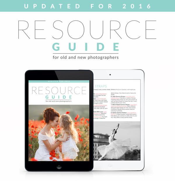 Guía de recursos gratuita para fotógrafos por tiempo limitado