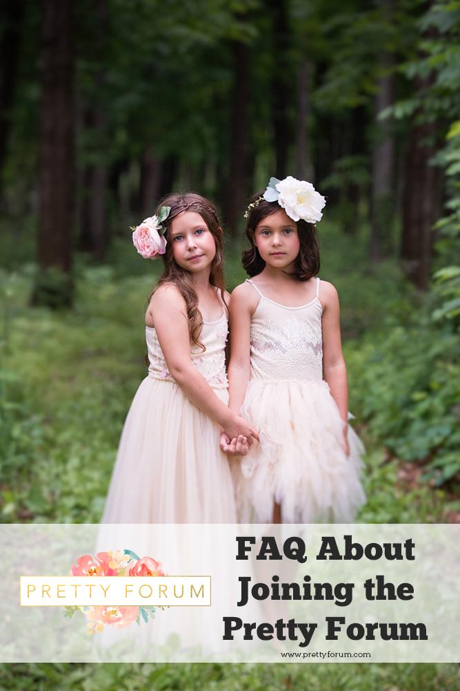 Preguntas frecuentes sobre cómo unirse a Pretty Forum