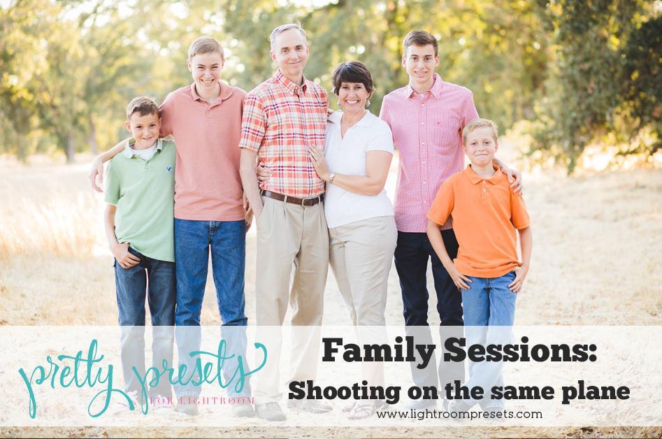 Sesiones de fotografía familiar: disparar en el mismo plano