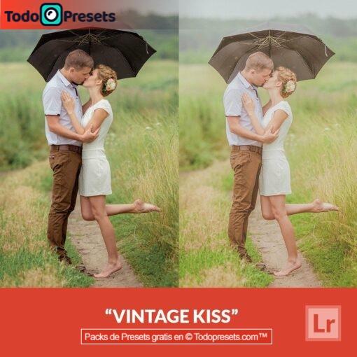 Beso vintage Preset de Lightroom gratis